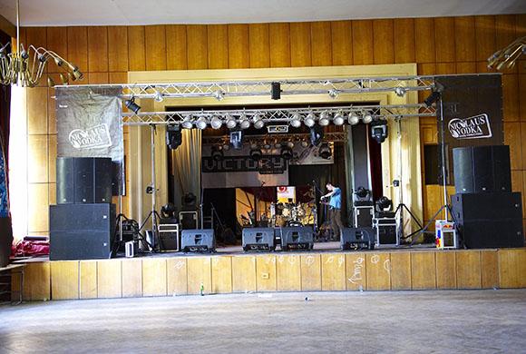 pódium a zábrany